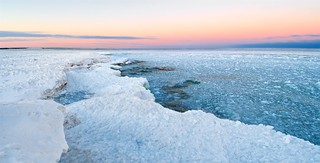 Lake Michigan Frozen Lakeshore