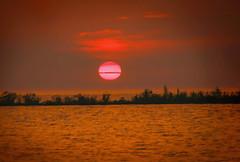 Lake Michigan Sunset (T P Mann Photography) Tags: lake michigan sun warm haze summer heat breezeway atwood