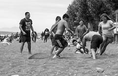 The football is joy (eltrueno) Tags: soccer is joy futbol es alegria llanquihue chile beach summer people