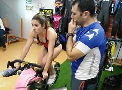 Alba Álvarez triatlón Indoor team clavería triatlón World 8