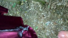 Satin/Seide Kleidung im Wald Begeehung 4 teil 8. Rotes Negilee Sperma (Stivmeister Satin/Seide) Tags: satin seide silk shiny glanz negilee sperma