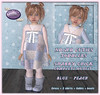 Cutie shabby chick - blue peach (Alea Lamont) Tags: ndmd cuties mesh toddler avatars cutie toddlers dress girl outfits girls baby tots tot kleinkind rainboots shabby chick look sense event