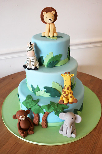 Baby Jungle Safari Animal Cake