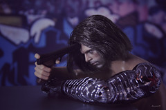 The shadows are talking... (Anna_Mai) Tags: buckybarnes wintersoldier actionfigures actionfigure onesixthscale