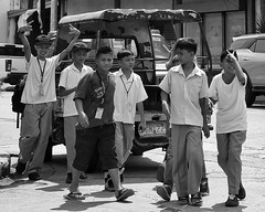 Back To School (Beegee49) Tags: street school schoolboys boys walking bacolod city philippines