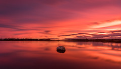 Deco Rock (ajecaldwell11) Tags: xe3 ahuririestuary sunset ankh water pandora fujifilm light tide newzealand napier westshore sky ahuriri hawkesbay caldwell clouds dusk