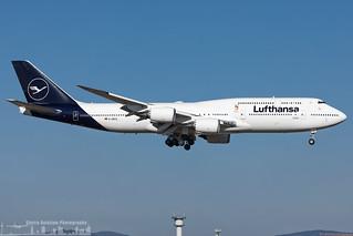 D-ABYA Lufthansa Boeing 747-8 Olympia 2018 sticker (FRA - EDDF)