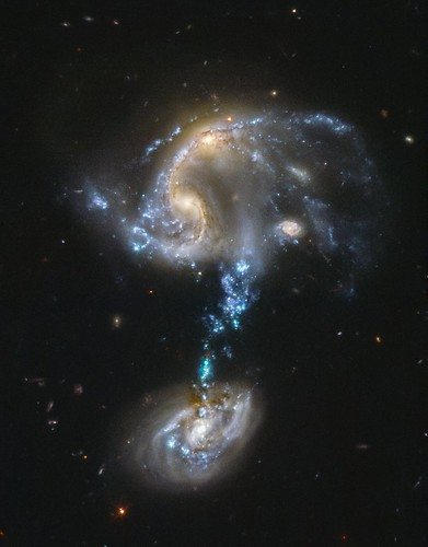 Merging Group Arp 194