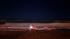 together (jinglenoise) Tags: bestcompany onthebeach joking speciallights longexposure