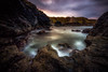 Swift Exit (Augmented Reality Images (Getty Contributor)) Tags: longexposure water coastline landscape sunset scotland waves littlestopper seascape canon morayfirth portsoy nisifilters clouds rocks unitedkingdom gb