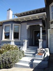 San Francisco, CA, Noe Valley, Victorian Cottage (Mary Warren 13.5+ Million Views) Tags: sanfranciscoca noevalley architecture building house residence victorian cottage stairs door portal entrance baywindow