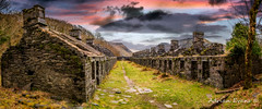 Quarry Sunset Snowdonia (Adrian Evans Photography) Tags: track welsh dinorwicquarry snowdonia decay panorama snow wales tree uk british quarry architecture stone path landscape sunset llanberis landmark buildings outdoor slate clouds angleseybarracks abandoned barracks ruins adrianevans quarrysunset dilapidated grass snowdonianationalpark sky dinorwigquarry weathered northwales