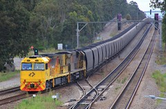 5002 and 5029 takes the back roads at Thornton on NB936 loaded coal from Narrabri (bukk05) Tags: 5002 railpage:class=127 railpage:loco=5002 rpaunsw5000class rpaunsw5000class5002 5000class 5029 5020class c40aci c44achi nb936 wagons qrn qrnational explore export engine railway railroad railpage rp3 rail railwaystation railwaystations train tracks tamron tamron16300 trains thornton photograph photo loco locomotive horsepower hp ge ge7fdl16 flickr freight diesel station standardgauge sg spring 2017 australia artc aurizon aurizoncoal zoom signal canon60d canon coal coaltrain nsw newsouthwales newcastle cityofnewcastle huntervalley hunter mainline
