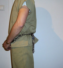 S&W m-1800 belly chain (rainerzufall1234) Tags: handcuffs handcuffed prisoner restraints shackles chains uniform inmate jail prison arrested arrest