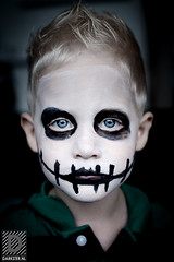 Halloween (Darkster Photography) Tags: makeup halloween black white kid horror spooky jack skellington gerben duijster eyes