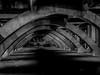 be aware (cheezepleaze) Tags: bridge footpath ominous night dark danger people shadow graffiti hss