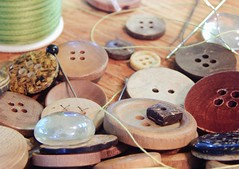 Mess of Shapes (TheAramet) Tags: photo macro buttons crafts thread wood shapes messy
