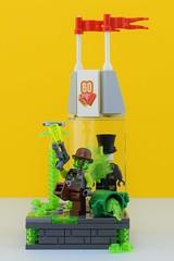 Retox🎩 (Alex THELEGOFAN) Tags: lego legography minifigure minifigures minifig minifigurine minifigs minifigurines ultra agents retox gentlemen 60 years acid toxic poison green city shop hat trash
