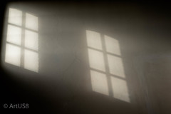 The Unknown (ARTUS8) Tags: fenster flickr nikond800 nikon50mmf18 raum room oberlicht nebel fog horror mystic film