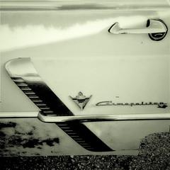1953 (Maureen Bond) Tags: maureenbond ca desert junkyard classic vintage car automobile iphone chrome emblem door handle lock lincoln cosmopolitan