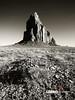 Shiprock, New Mexico (Lerro Photography) Tags: monumentvalley ship rock shiprock desert desertsand desolate americanwest wildwest americansouthwest southwest navajo nation bw black white blackwhite contrast