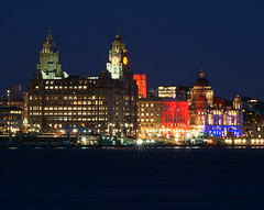 Liverpool Waterfront (Colin__Murray) Tags: liverpool port mersey merseyside england uk building britain listedbuilding architecture sky sony waterfront docks harbour night lowlight photography pierhead river heritage city lights clock unesco water colour color red blue green cunard liverbirds magnificent beautiful time face dome