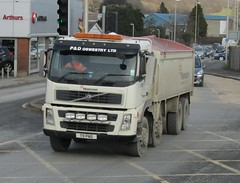 P&D Oswestry T9 PND at Newtown (Joshhowells27) Tags: lorry volvo fm pd oswestry tipper hanson