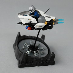 Police L.E.V. 5 (Light Enforcing Vehicle - Pursuit Class) (Oscar Cederwall (o0ger)) Tags: lego moc lsb2018 speeder bike police beyondsol bortomsol