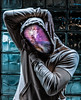 Head in the Stars (Lightcrafter Artistry) Tags: nebula stars hoodie portrait head photoshop art