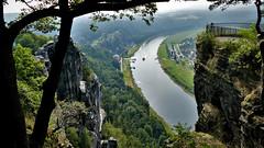 Elbe + paddle wheeler (marcostetter) Tags: elbsandsteingebirge travel germany saxony sachsen reise bastei elbe landscape nature fz1000 lumix