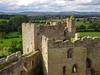 DSC04516a (Dunnock_D) Tags: uk unitedkingdom britain england shropshire green grass ludlow castle stone walls tower white clouds