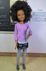 A new student - Sasha (Foxy Belle) Tags: doll barbie skipper friend babysitters inc black afro african american school classroom science biology life chalkboard