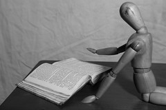 untitled (N.the.Kudzu) Tags: home tabletop stilllife wooden mannequin book bw canon70d