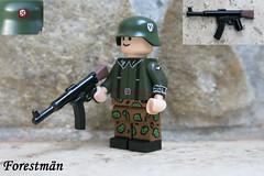 Squad leader with StG 45(M), custom LEGO (Forestmän) Tags: lego stg 45 m custom ss waffen soldier painted wwii ww2