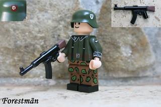 Squad leader with StG 45(M), custom LEGO
