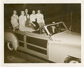 Girls on Chrysler Town and Country, 1947