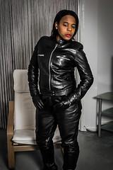 3 (fetishgirlsuk) Tags: leather leatherjacket ebony sexy kinky