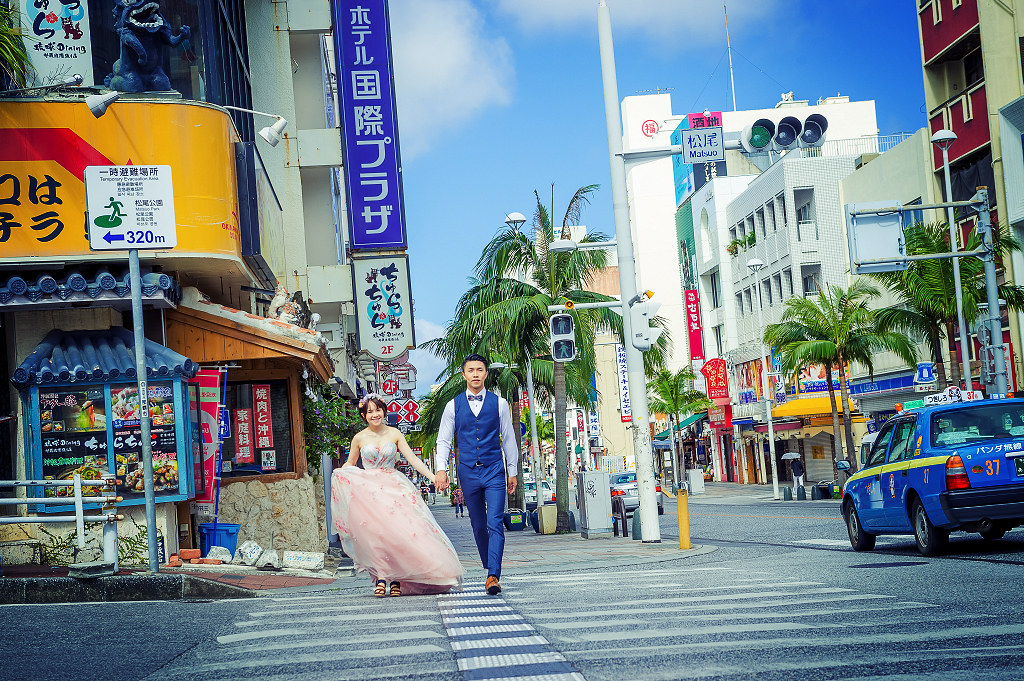 海外婚紗,婚禮,攝影,自助,旅拍,國外,日本,沖繩,琉球,那霸,國際通