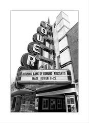 Tower (DJ Wolfman) Tags: movietheater tower signs blackandwhite bw oklahoma okc oklahomacity theater towertheater olympus olympusomd em1markii 12100mmf4zuiko zuiko zd micro43