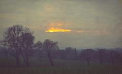 Evening stroll (dusk_rider) Tags: dusk sun silhouette landscape england hertfordshire hitchin nikon d3300 photoshop painting impressionism countryside