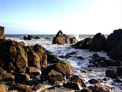 Summertime Sadness #2 (god_save_the_green) Tags: rocks rochers ocean atlanticocean water waterscape foam écume environment mathildeaudiau olympusepl1 august2017 peacefulplace blue white brown shore rivage bluesky