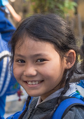 Smiling girl (Never.Stop.Searching.) Tags: burmese watpapao chiangmai temple thailand people kids