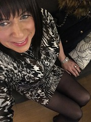 (Miss Nicole Sanderson) Tags: 247 fulltime lesbian smile shortdress highheels heels tg ts transsexual transgender gorgeous beautiful pretty sexy dress tights legs femininity feminine female woman lady girl