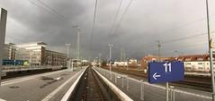 Platform 11 (mkorsakov) Tags: münster hbf bahnhof mainstation gleis platform pano panorama unwetter grau grey himmel sky