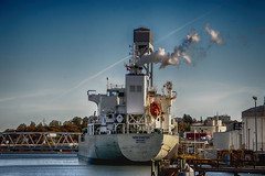 Preparing to Sail (PAJ880) Tags: tanker noreaster steam tanks east boston ma indistria departure mooring ship petroleum terminal