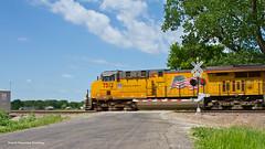 National Train Day - Train #3 (tim_1522) Tags: railroad railfanning rail illinois il unionpacific up chester sub subdivision generalelectric gevo ac45ccte ac44cwcte intermodal zg4mq