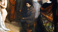 Courbet, The Studio, detail with Champfleury