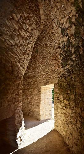 Inside the Round Temple at Mayapan