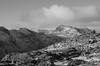 Bowfell from Pike of Blisco (andy_grundy) Tags: bowfell pike blisco mountain mountains black white snow landscape