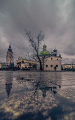 After the rain (Vagelis Pikoulas) Tags: krakow poland europe travel reflection reflections urban perspective clouds cloudy cloud old town tokina city cityscape view landscape autumn november 2017